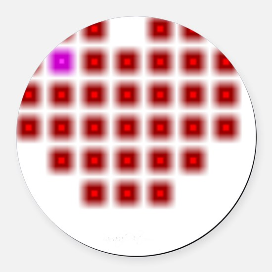 Digital Love 2.0 Round Car Magnet