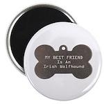 Friend Wolfhound Magnet