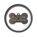 Friend Wolfhound Wall Clock