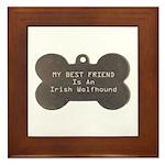 Friend Wolfhound Framed Tile
