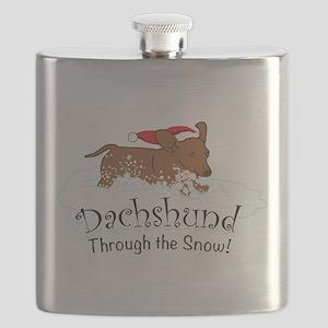Dachshund Through The Snow Flask
