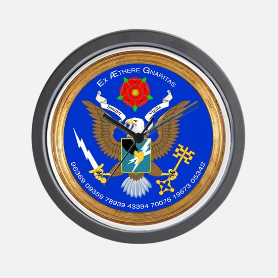 ASA_Seal_Tshirt_BW Wall Clock