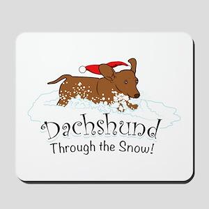 Dachshund Through The Snow Mousepad
