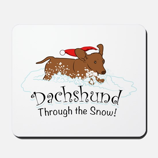 Dachshund Through The Snow Mousepad