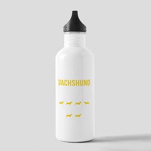 Dachshund Stubborn Tri Stainless Water Bottle 1.0L
