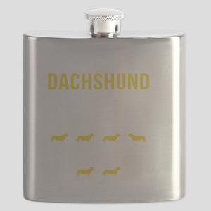 Dachshund Stubborn Tricks Flask