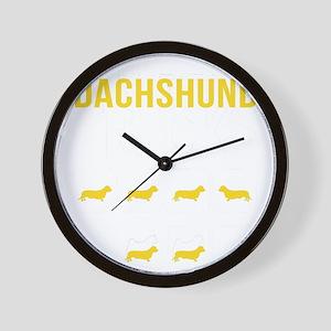 Dachshund Stubborn Tricks Wall Clock