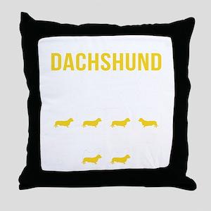 Dachshund Stubborn Tricks Throw Pillow