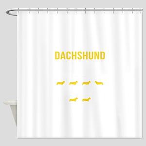 Dachshund Stubborn Tricks Shower Curtain