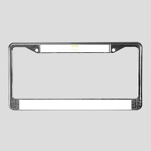 Dachshund Stubborn Tricks License Plate Frame