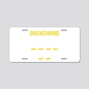 Dachshund Stubborn Tricks Aluminum License Plate