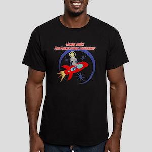 Red_Rocket1 Men's Fitted T-Shirt (dark)