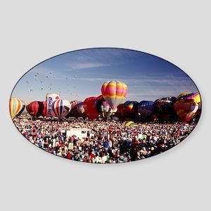 AlbuquerqueBalloon01 Sticker (Oval)