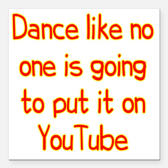 """youtube2 Square Car Magnet 3"""" x 3"""""""