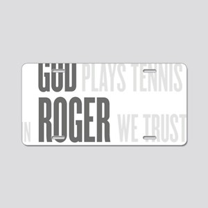 GOD ROGER Aluminum License Plate