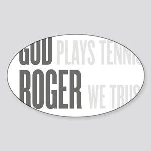 GOD ROGER Sticker (Oval)