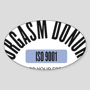 ORGASM DONOR Sticker (Oval)