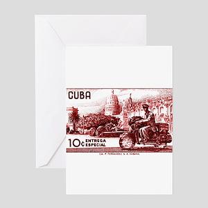 Vintage 1958 Cuba Special Delivery Postage Stamp G