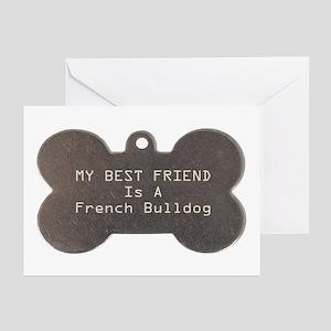 Friend Bulldog Greeting Cards (Pk of 10)