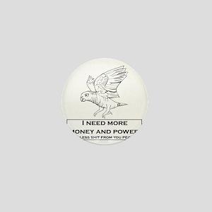 parrot_wings_money_less_shit Mini Button