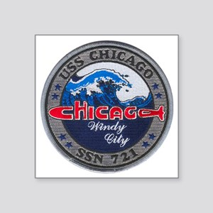 """chicago patch Square Sticker 3"""" x 3"""""""