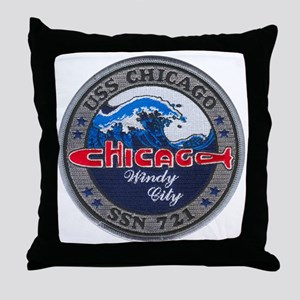chicago patch Throw Pillow