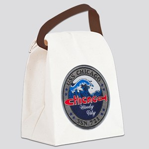 chicago patch Canvas Lunch Bag