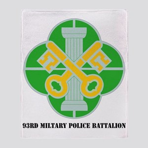 DUI-93D MIL PLC BN  WITH TEXT Throw Blanket