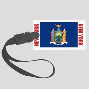 LP-new-york-flag Large Luggage Tag