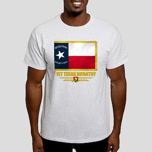 1st Texas Infantry (flag 10) Light T-Shirt