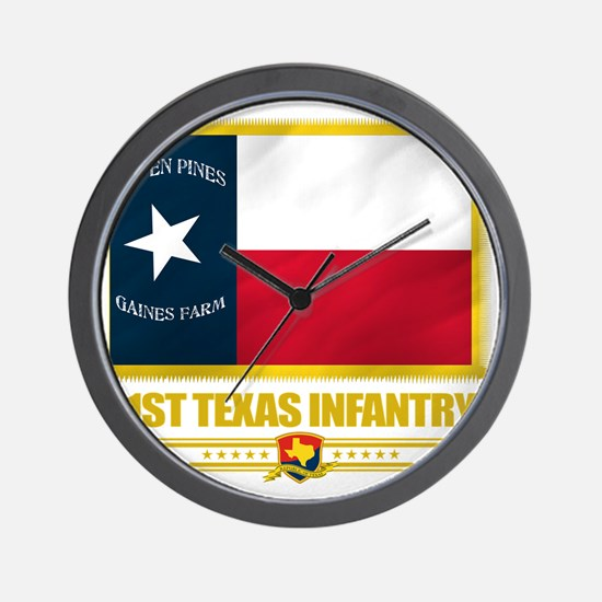 1st Texas Infantry (flag 10) Wall Clock