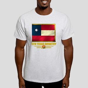 5th Texas Infantry (flag 10)2 Light T-Shirt
