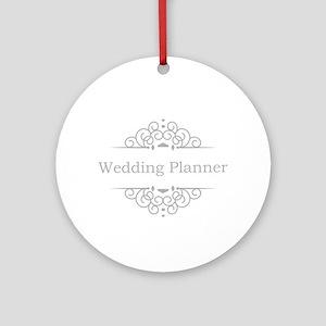 Wedding Planner in silver Ornament (Round)