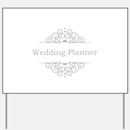 Wedding Planner in silver Yard Sign