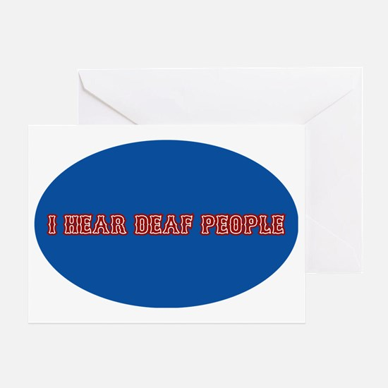 i hear deaf deaf people decal sticke Greeting Card