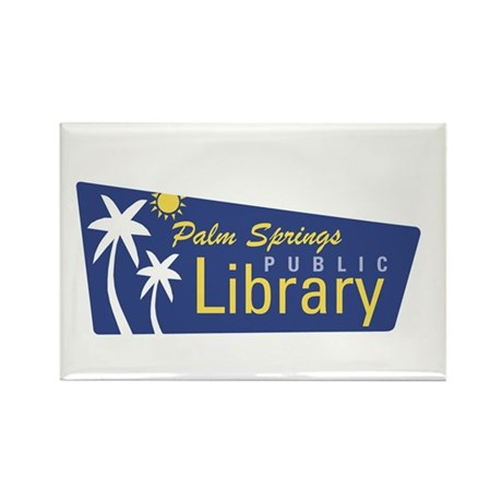 Palm Springs Library Rectangle Magnet