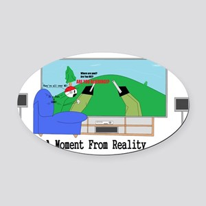 VideoGameAreYouBleeding Oval Car Magnet