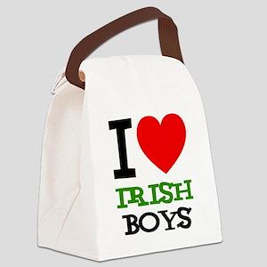 i-love-d-black-irish Canvas Lunch Bag