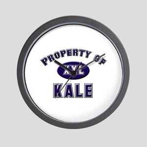 Property of kale Wall Clock
