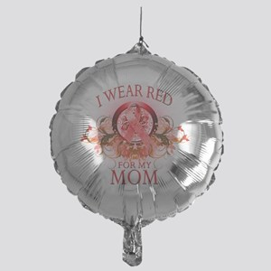 I Wear Red for my Mom (floral) Mylar Balloon