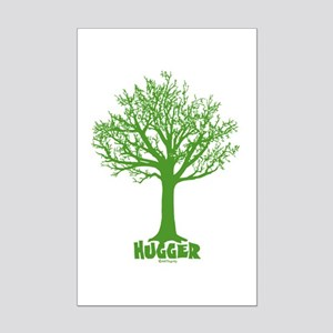 TREE hugger (dark green) Mini Poster Print