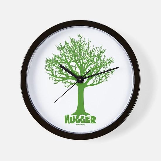 TREE hugger (dark green) Wall Clock