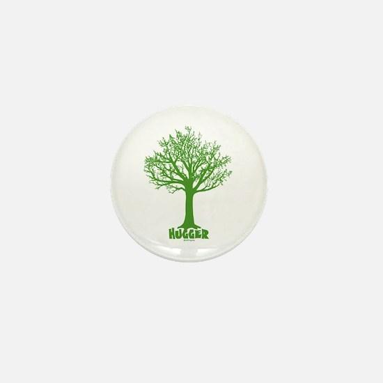 TREE hugger (dark green) Mini Button