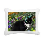 Freckles Cat Easter Eggs Rectangular Canvas Pillow
