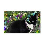 Freckles Tux Cat Easter Eggs 20x12 Wall Decal