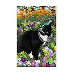 Freckles Tux Cat Easter Eggs Mini Poster Print