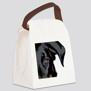 Beauceron Graphic Canvas Lunch Bag