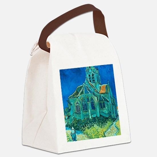 van gogh church Canvas Lunch Bag