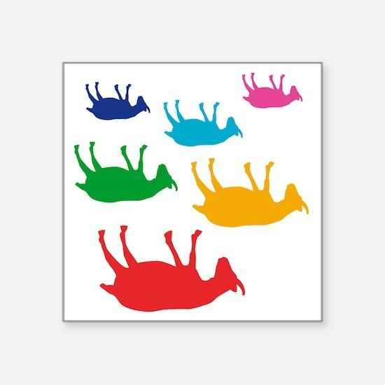 "fainting goat_goats_multi Square Sticker 3"" x 3"""