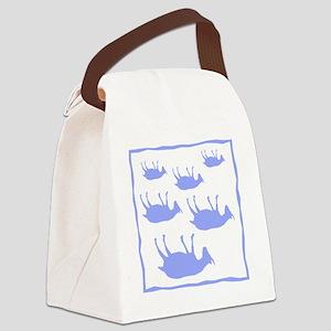fainting goat_sq_Blue Canvas Lunch Bag